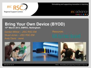RSCs – Stimulating and supporting innovation in learning