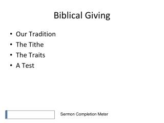 Biblical Giving