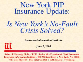 New York PIP Insurance Update: Is New York's No-Fault Crisis Solved?