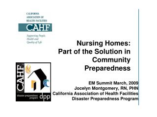 Nursing Homes: Part of the Solution in Community Preparedness