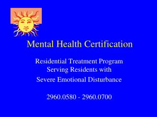 Mental Health Certification