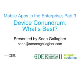 Mobile Apps in the Enterprise, Part 3