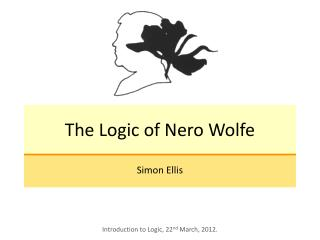 The Logic of Nero Wolfe