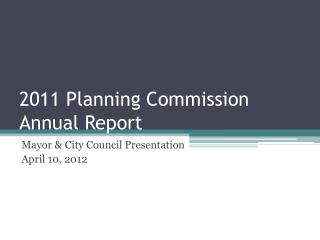2011 Planning Commission Annual Report