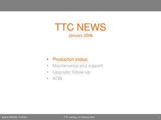 TTC NEWS January 2006