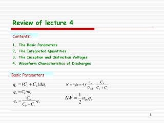 Review of lecture 4