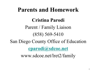 Parents and Homework