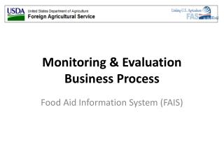 Monitoring & Evaluation Business Process