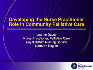 Developing the Nurse Practitioner Role in Community Palliative Care