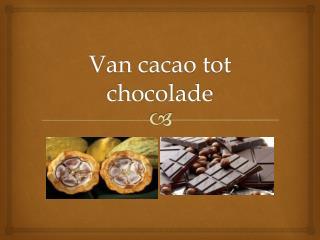 Van cacao tot  chocolade