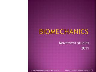 Biomechanics