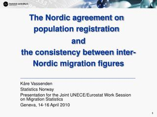 and the consistency between inter-Nordic migration figures