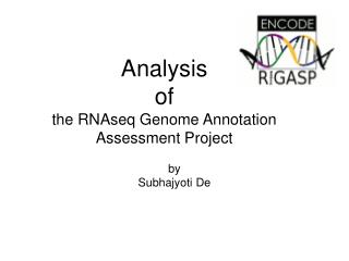 Analysis  of the RNAseq Genome Annotation Assessment Project