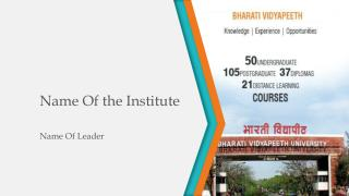 Name Of the Institute