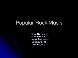 Popular Rock Music