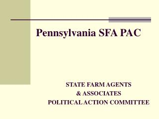 Pennsylvania SFA PAC