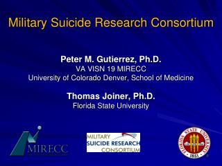 Military Suicide Research Consortium