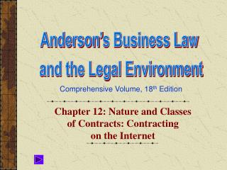Chapter 12: Nature and Classes of Contracts: Contracting  on the Internet