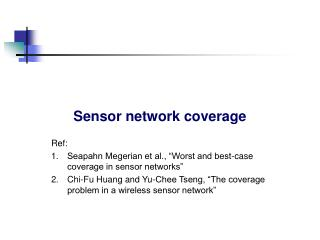 Sensor network coverage