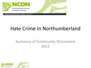 Hate Crime in Northumberland