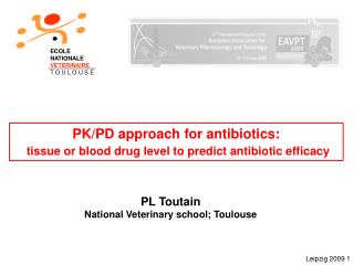 PK/PD approach for antibiotics: tissue or blood drug level to predict antibiotic efficacy