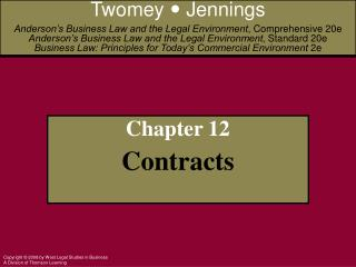 Chapter 12 Contracts
