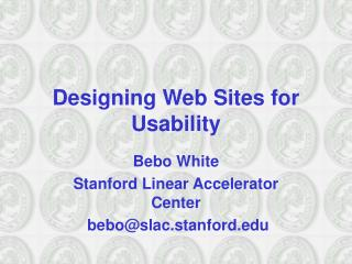 Designing Web Sites for Usability