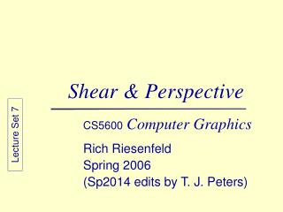 Shear & Perspective