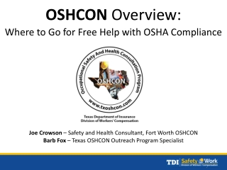 Protecting Nursing Home Workers:  OSHA s Safety and Health Program Approach