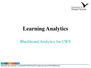 Learning Analytics