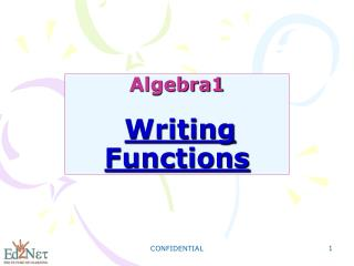 Algebra1 Writing Functions
