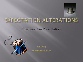 Expectation Alterations
