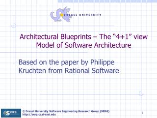"Architectural Blueprints – The ""4+1"" view Model of Software Architecture"