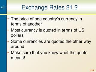 Exchange Rates 21.2