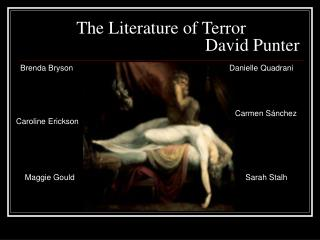 The Literature of Terror                                           David Punter