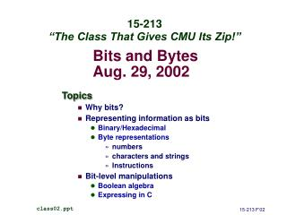 Bits and Bytes Aug. 29, 2002