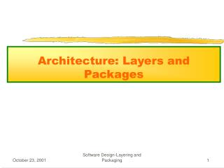 Architecture: Layers and Packages