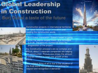 Global Leadership in Construction