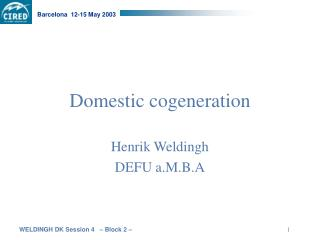 Domestic cogeneration