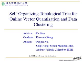 Self-Organizing Topological Tree for Online Vector Quantization and Data Clustering