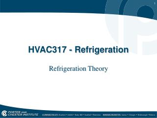HVAC317 - Refrigeration