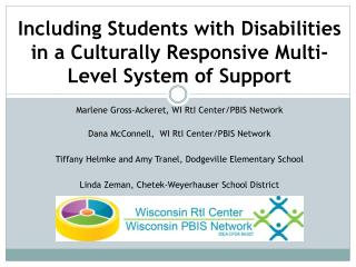 Including Students with Disabilities  in a Culturally Responsive Multi-Level System of Support