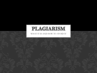 PLAGIARISM in the INTERNET ERA
