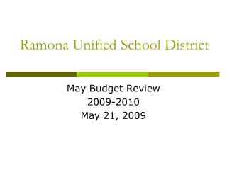 Ramona Unified School District