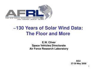 ~130 Years of Solar Wind Data: The Floor and More
