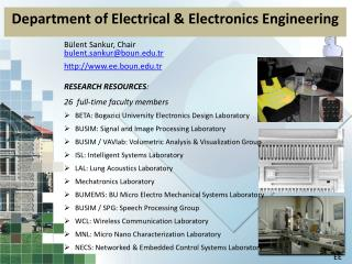 Department of Electrical & Electronics Engineering
