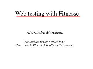 Web testing with Fitnesse