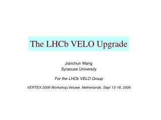 The LHCb VELO Upgrade
