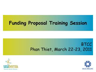 Funding Proposal Training Session