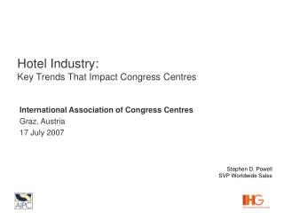 Hotel Industry: Key Trends That Impact Congress Centres